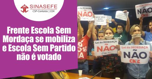 Mobilização barra votação de Lei da Mordaça por Comissão da Câmara