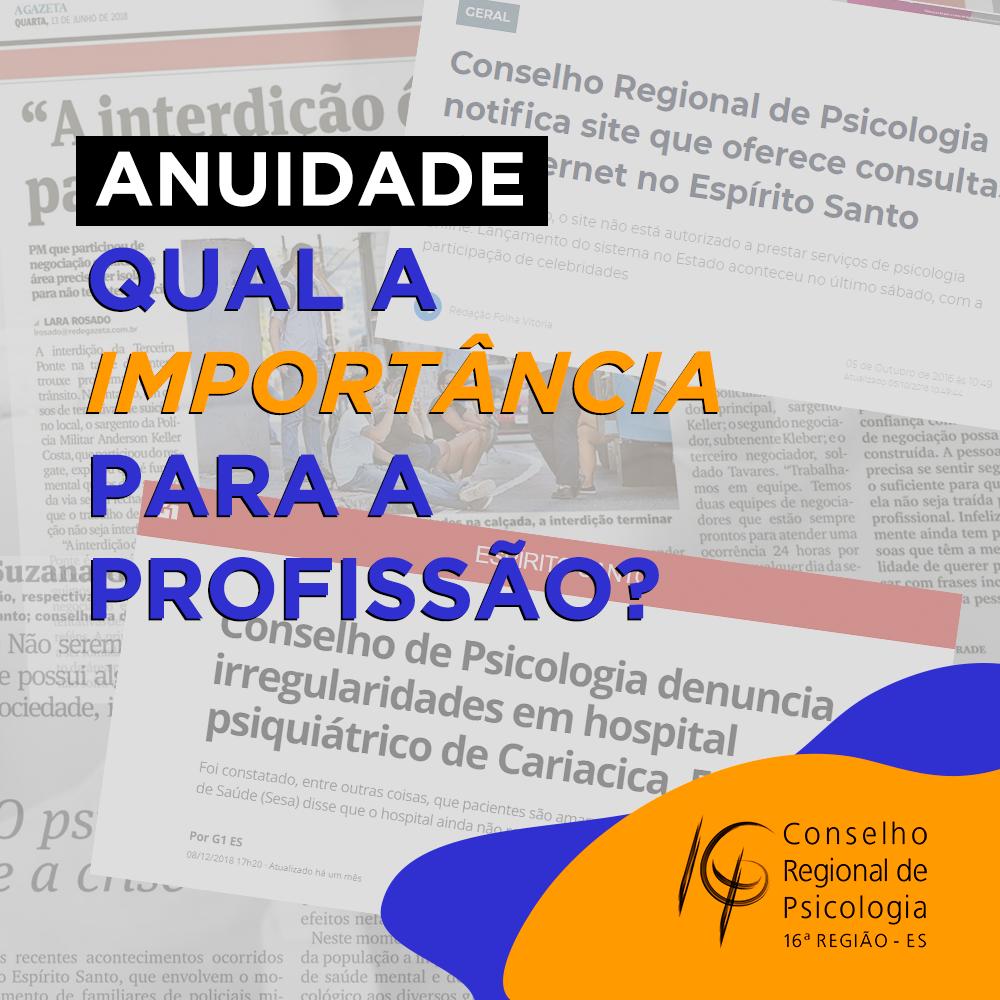 ANUIDADE DO CRP-16 É IMPORTANTE PARA O CONSELHO FISCALIZAR, ORIENTAR E PROTEGER A PROFISSÃO