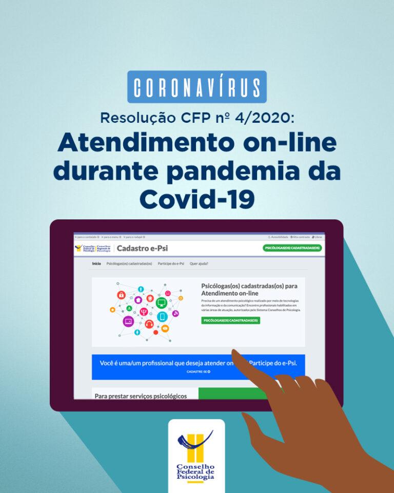 CFP orienta categoria sobre atendimento online durante pandemia da Covid-19