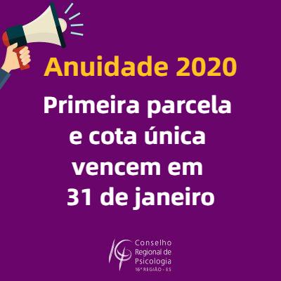 Anuidade 2020: veja as datas de vencimento e as formas de pagamento do tributo